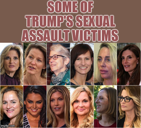 SOME OF TRUMP'S SEXUAL ASSAULT VICTIMS | made w/ Imgflip meme maker