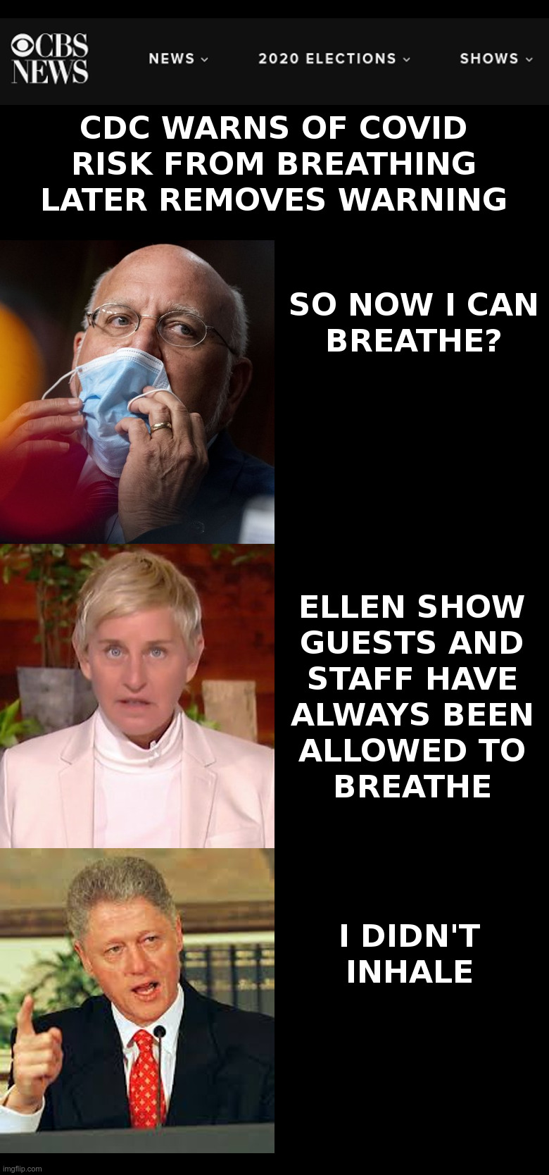 CDC Warns Breathing Can Be A Covid Risk | image tagged in cdc,covid,breathe,coronavirus,lockdown,forever | made w/ Imgflip meme maker