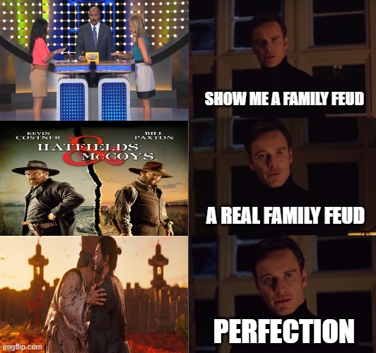 perfection |  SHOW ME A FAMILY FEUD; A REAL FAMILY FEUD; PERFECTION | image tagged in perfection,ps4,videogames,samurai,stealth,fighting | made w/ Imgflip meme maker