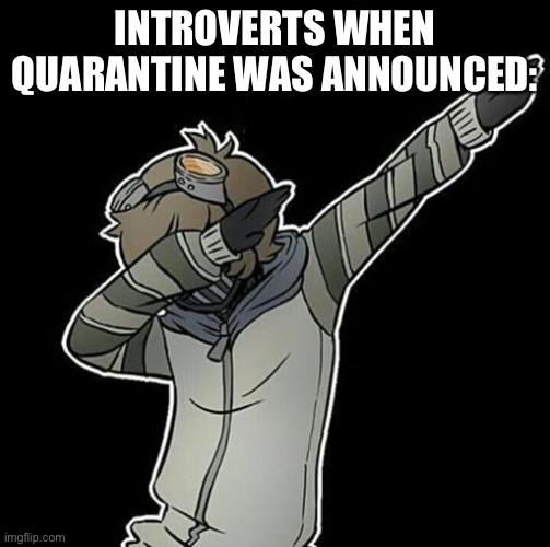 INTROVERTS WHEN QUARANTINE WAS ANNOUNCED: | made w/ Imgflip meme maker