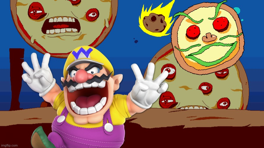 Wario dies in Pizza Tower during Pizza time.mp3 | image tagged in pizza tower,wario,wario dies,pizza,memes | made w/ Imgflip meme maker