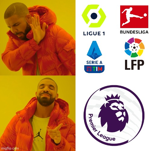 Watch Premier League instead of All Farmer Leagues | image tagged in memes,drake hotline bling,premier league,football,soccer | made w/ Imgflip meme maker