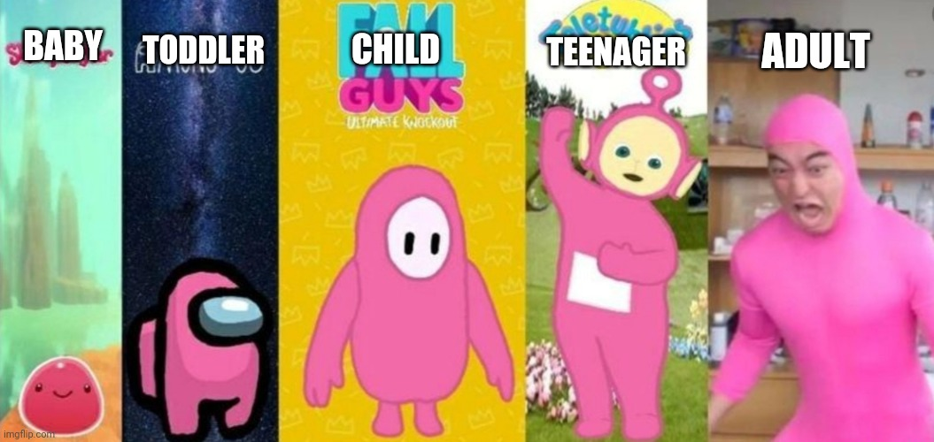 Coincidence? |  ADULT; TEENAGER; TODDLER; BABY; CHILD | image tagged in coincidence | made w/ Imgflip meme maker