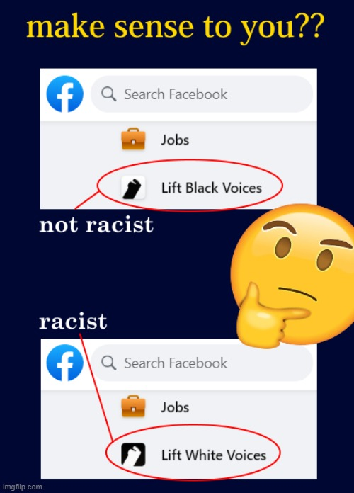 Facebook is Racist | image tagged in facebook,racist,racism,all lives matter,trump | made w/ Imgflip meme maker