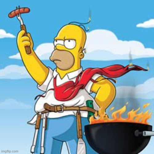 Homer BBQ | image tagged in homer bbq | made w/ Imgflip meme maker