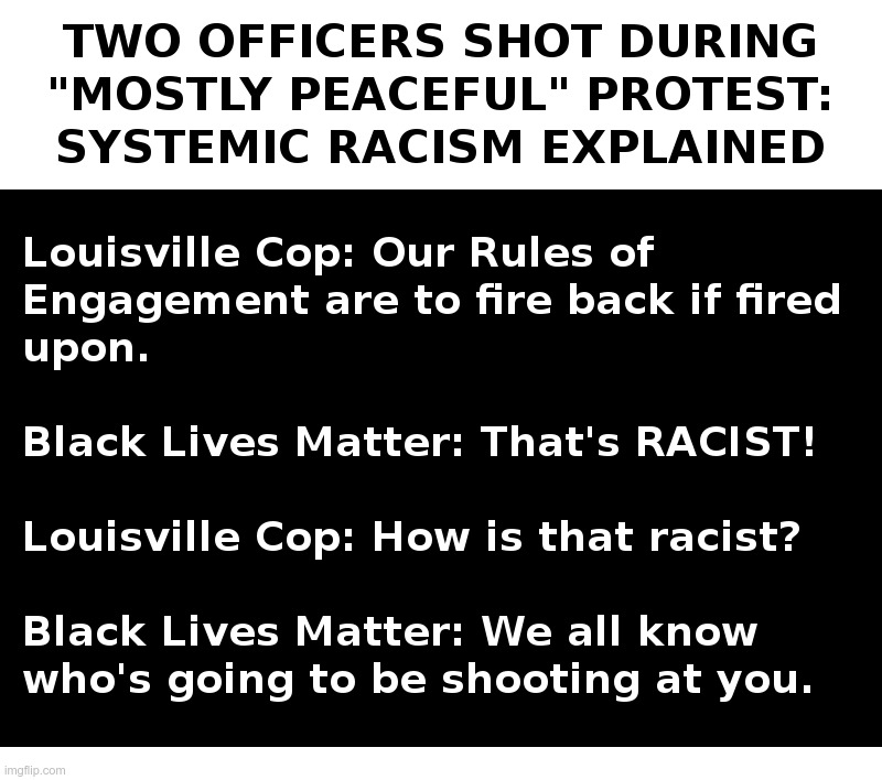 Systemic Racism Explained | image tagged in kentucky,cops,black lives matter,racism | made w/ Imgflip meme maker