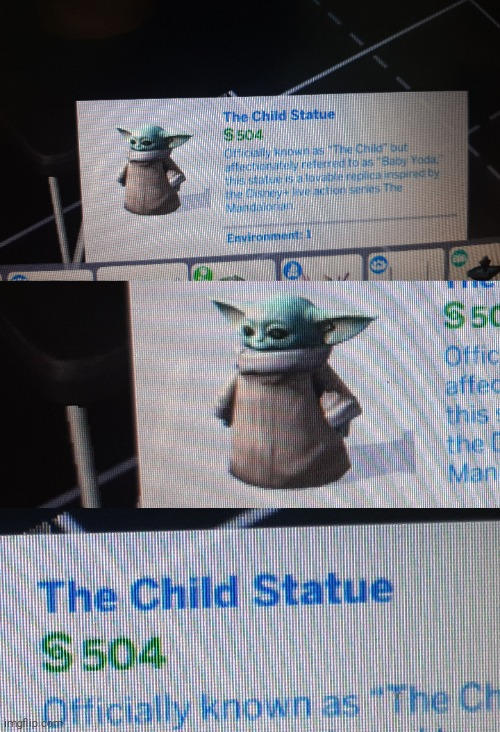 The... Child? | image tagged in memes,funny,sims,baby yoda | made w/ Imgflip meme maker