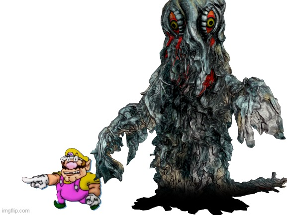 wario gets eaten by hedorah and dies.mp3 | image tagged in memes,funny,hedorah,godzilla,wario,wario dies | made w/ Imgflip meme maker