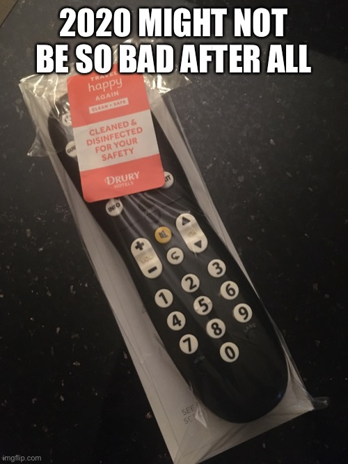 Remotely Genius! |  2020 MIGHT NOT BE SO BAD AFTER ALL | image tagged in 2020,remote control | made w/ Imgflip meme maker