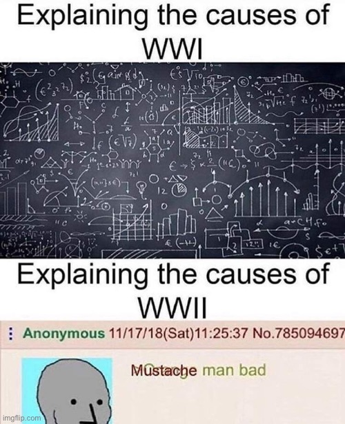 Oke | image tagged in ww1,ww2,adolf hitler,math,mustache man bad | made w/ Imgflip meme maker