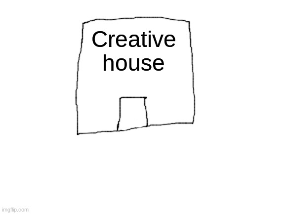 Creative name's House |  Creative house | image tagged in blank white template,i know epic house design,i am super creative,why are you reading the tags | made w/ Imgflip meme maker