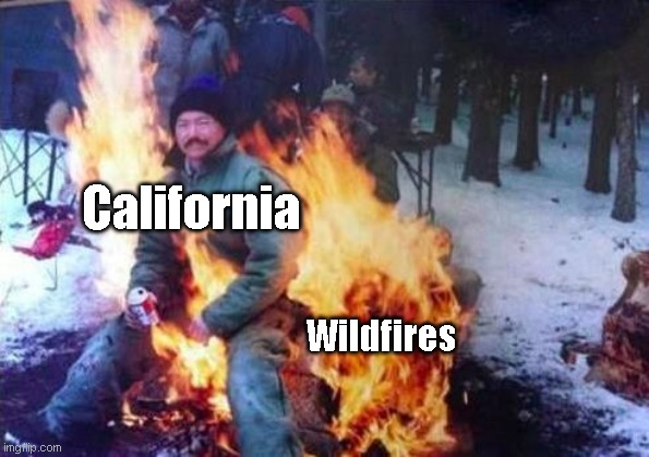 California doe |  California; Wildfires | image tagged in memes,ligaf | made w/ Imgflip meme maker