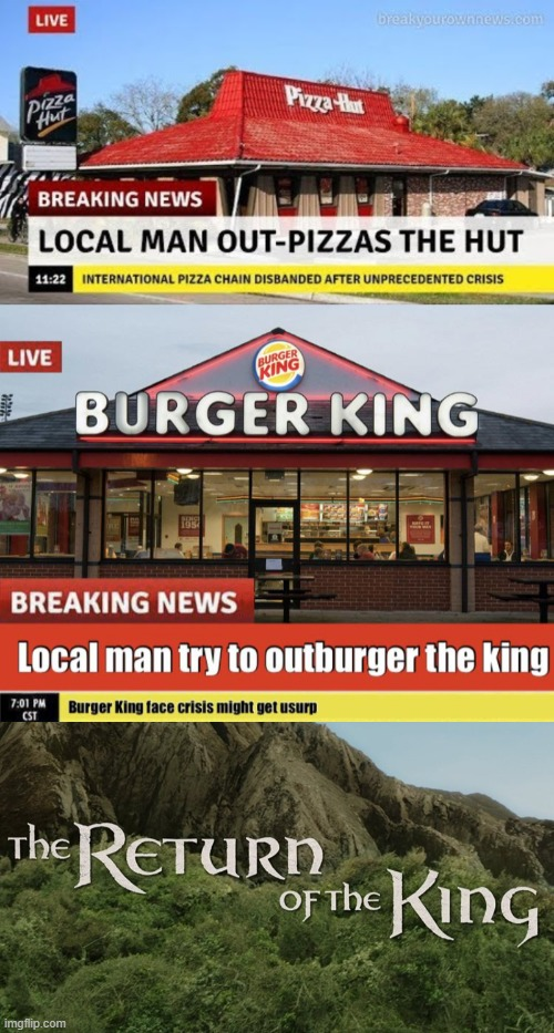 they're back | image tagged in the return of the king,memes,oh my days | made w/ Imgflip meme maker