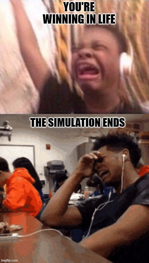 Came Back, better than ever |  YOU'RE WINNING IN LIFE; THE SIMULATION ENDS | image tagged in memes | made w/ Imgflip meme maker