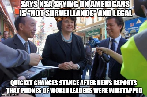 "SAYS NSA SPYING ON AMERICANS IS ""NOT SURVEILLANCE"" AND LEGAL QUICKLY CHANGES STANCE AFTER NEWS REPORTS THAT PHONES OF WORLD LEADERS WERE WIR 