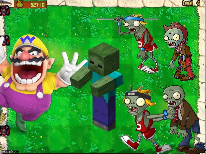 Wario dies in a zombie attack.mp3 | image tagged in wario dies,plants vs zombies,minecraft zombie,wario,memes | made w/ Imgflip meme maker