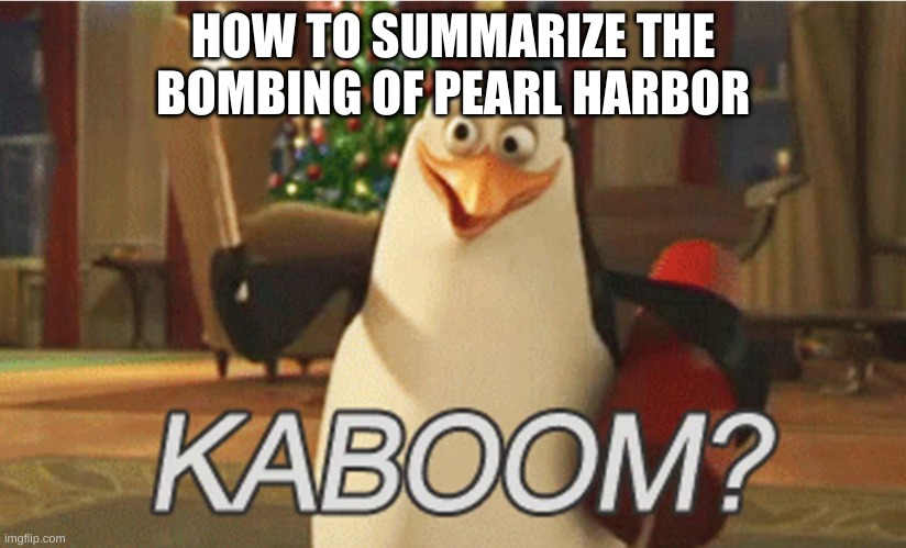 "penguins of Madagascar ""kaboom?"" 