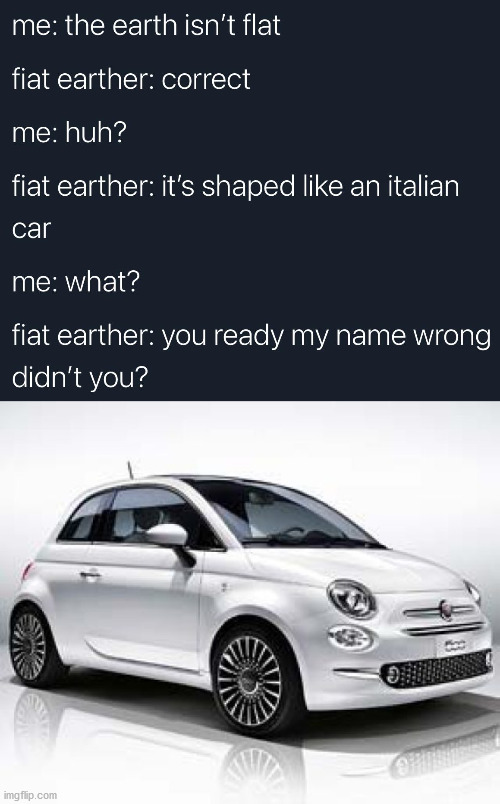 When an i looks like a l | image tagged in fiat 500 | made w/ Imgflip meme maker