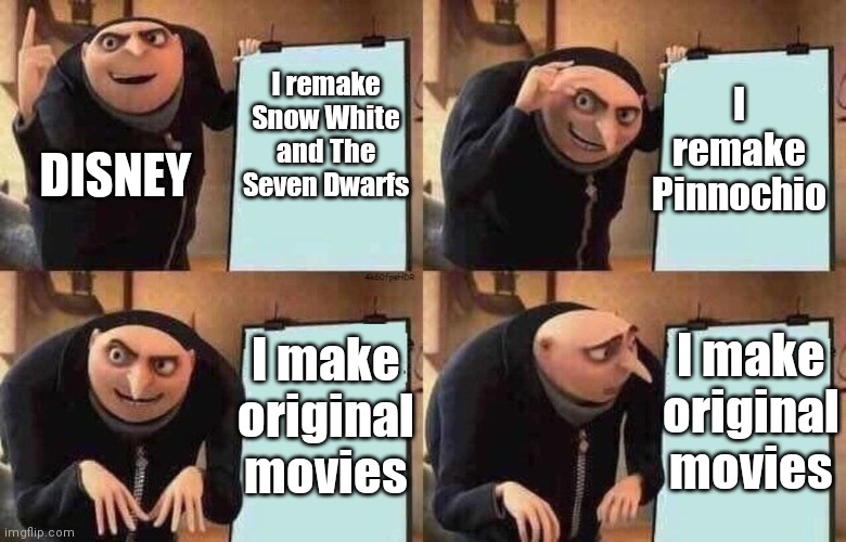 Disney sucks now... |  I remake Pinnochio; I remake Snow White and The Seven Dwarfs; DISNEY; I make original movies; I make original movies | image tagged in i sit on the toilet | made w/ Imgflip meme maker