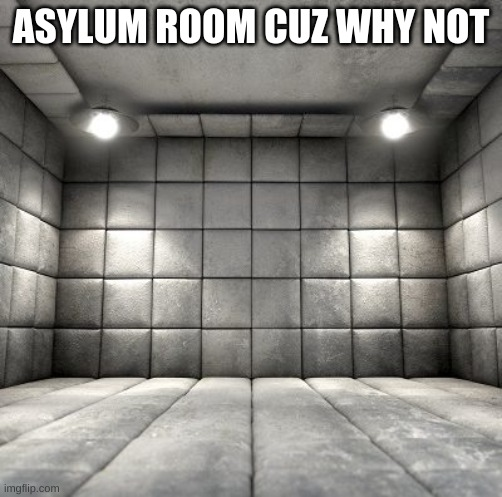 ASYLUM ROOM CUZ WHY NOT | made w/ Imgflip meme maker
