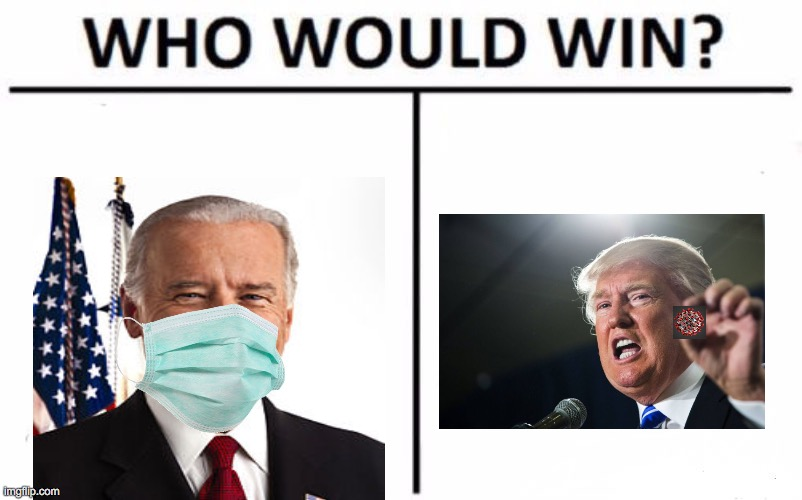 don Joe and the rona | image tagged in memes,who would win,rona,trump,biden,covid | made w/ Imgflip meme maker