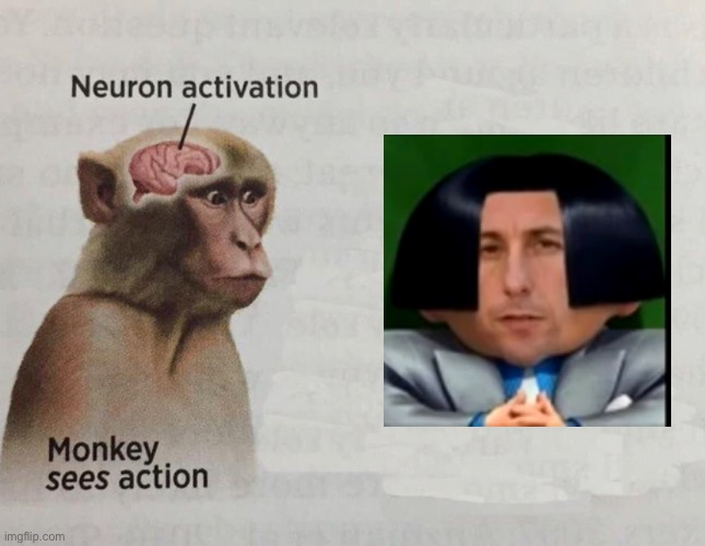 Neuron Activated | image tagged in monke | made w/ Imgflip meme maker