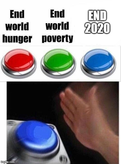 PLEASE!?!? |  END 2020 | image tagged in blue button thingy | made w/ Imgflip meme maker