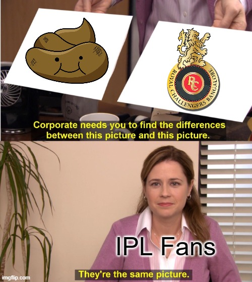 RCB IPL 2020 |  IPL Fans | image tagged in memes,they're the same picture,cricket | made w/ Imgflip meme maker