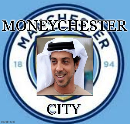 Manchester City's real logo |  MONEYCHESTER; CITY | image tagged in soccer | made w/ Imgflip meme maker