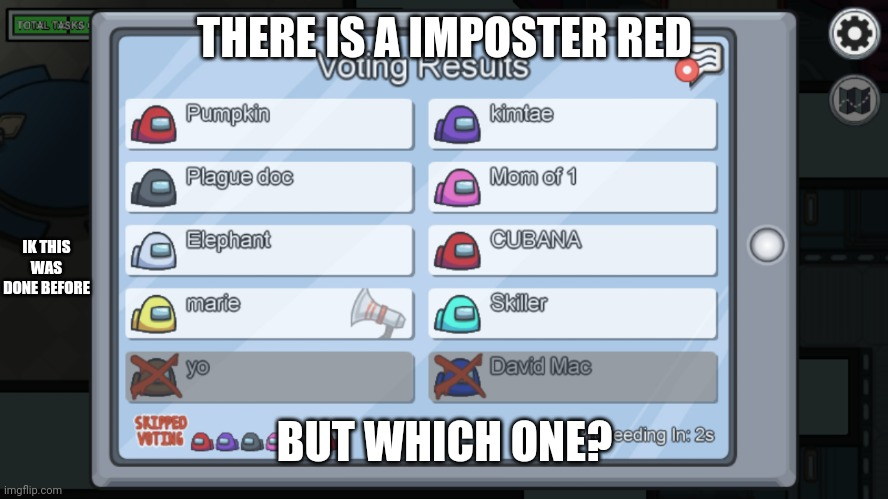 Image tagged in which red,there is 1 imposter among us ...