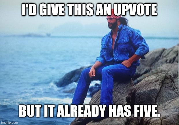 Conflicted Macho Man | I'D GIVE THIS AN UPVOTE BUT IT ALREADY HAS FIVE. | image tagged in conflicted macho man | made w/ Imgflip meme maker