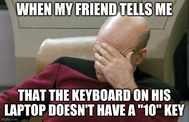 """And how come when I hit the key with the hashtag on it, it keeps typing a 3?"" 