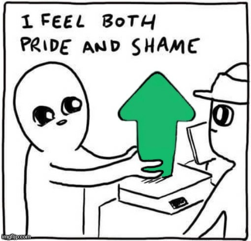 Pride and shame | image tagged in pride and shame | made w/ Imgflip meme maker