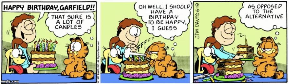 Image Tagged In Garfield Comics Cartoons Happy Birthday Square Root Of Minus Garfield Imgflip