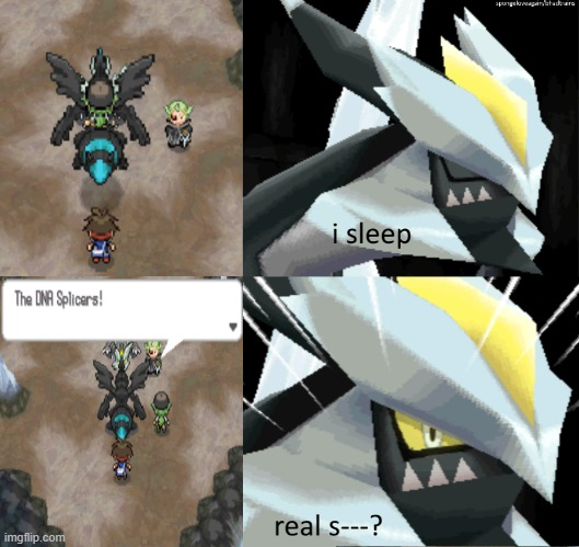 kyurem black lol | image tagged in memes,pokemon,pokemon memes,pokemon black 2 and white 2,i sleep | made w/ Imgflip meme maker