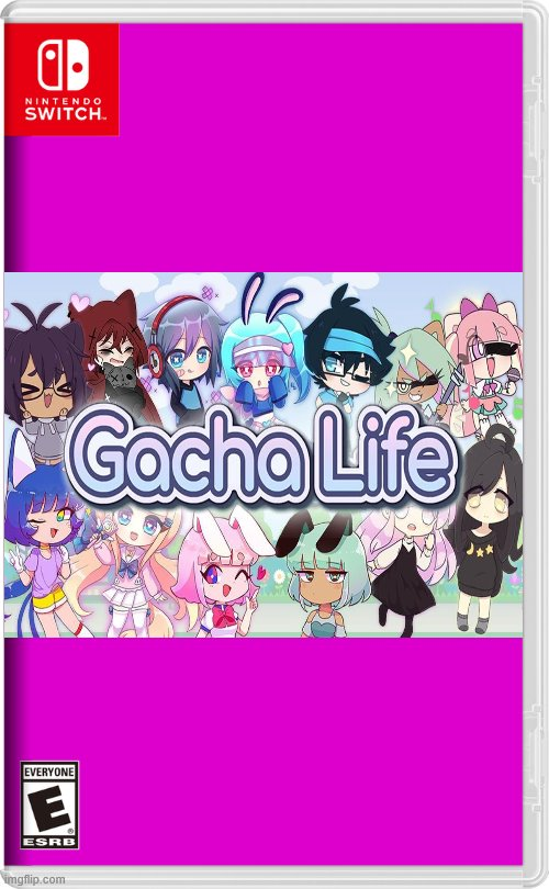 Gacha life on Nintendo switch | image tagged in nintendo switch,gacha life | made w/ Imgflip meme maker