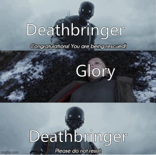 "Deathbringer saving Glory in The Hidden Kingdom and from ""assassination attempts"" 
