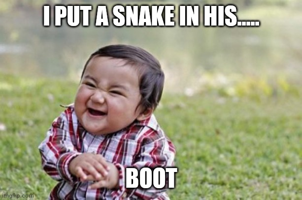 Does anyone know what I am talking about? |  I PUT A SNAKE IN HIS..... BOOT | image tagged in snake,the most interesting man in the world | made w/ Imgflip meme maker