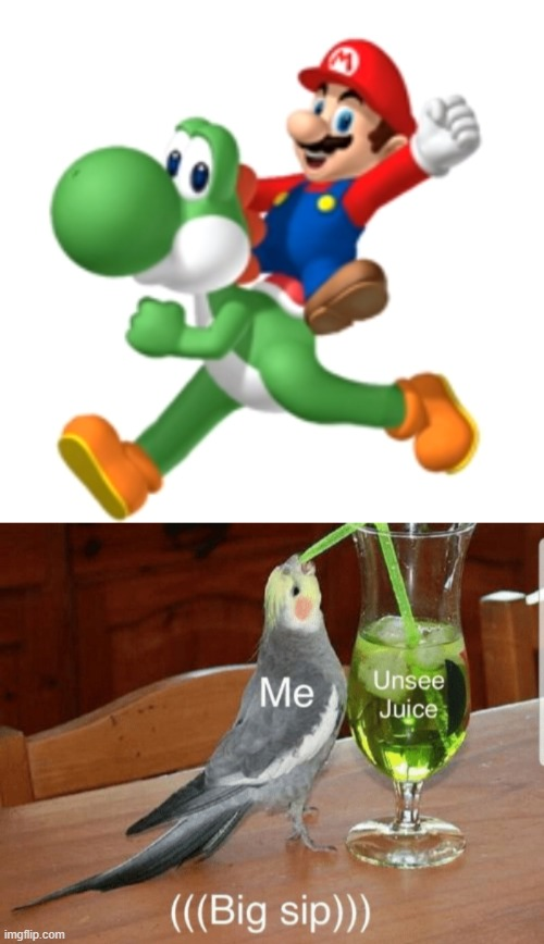 Cursed Yoshi. You're welcome. | image tagged in unsee juice,yoshi,mario | made w/ Imgflip meme maker