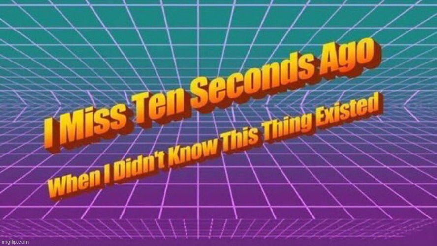 I miss ten seconds ago | image tagged in i miss ten seconds ago | made w/ Imgflip meme maker