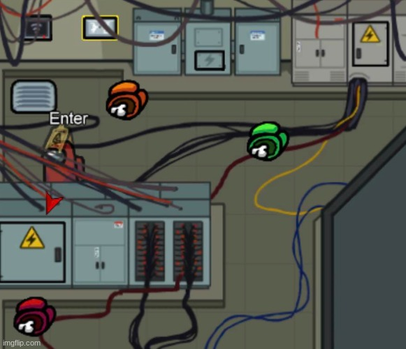 Electrical Room Among Us | image tagged in electrical room among us | made w/ Imgflip meme maker