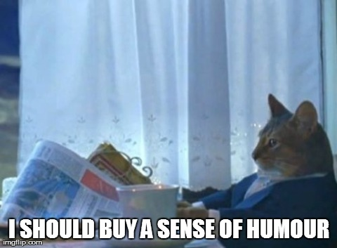 I Should Buy A Boat Cat Meme | I SHOULD BUY A SENSE OF HUMOUR | image tagged in memes,i should buy a boat cat,AdviceAnimals | made w/ Imgflip meme maker