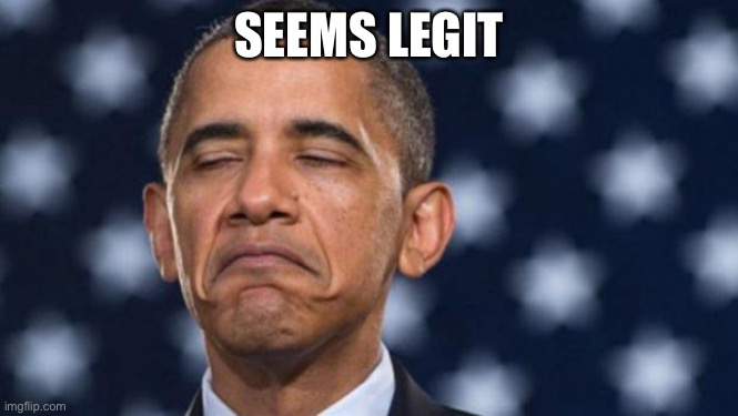"""Seems Legit"" Obama 