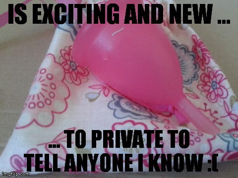 IS EXCITING AND NEW ... ... TO PRIVATE TO TELL ANYONE I KNOW :( | image tagged in ladycup,TrollXChromosomes | made w/ Imgflip meme maker