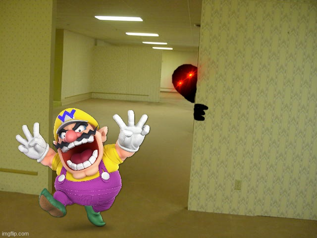 Wario noclips out of reality, gets trapped in the backrooms, and is brutally murdered by shadow demons.mp3 | image tagged in the backrooms,wario dies,wario,shadow demons,memes | made w/ Imgflip meme maker
