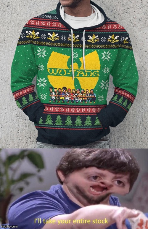 Wu-Tang Ugly Christmas hoodie | image tagged in wut,christmas,merry,merry christmas,rap,rappers | made w/ Imgflip meme maker