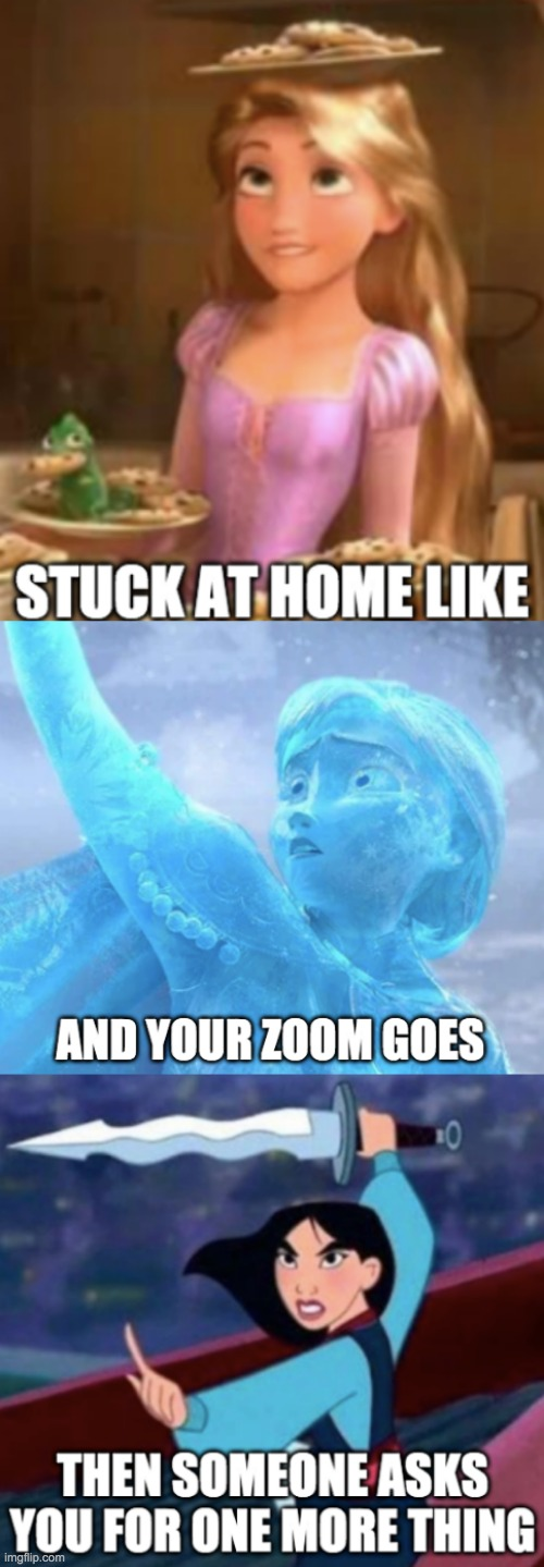 Remote LIfe | image tagged in zoom,disney,life | made w/ Imgflip meme maker