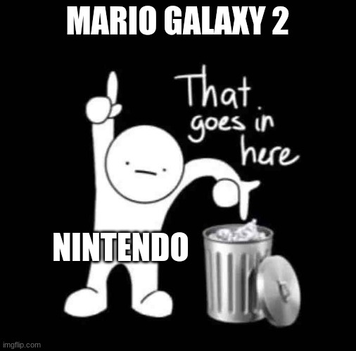 that goes in here |  MARIO GALAXY 2; NINTENDO | image tagged in that goes in here | made w/ Imgflip meme maker