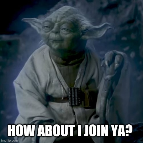 Can I join? |  HOW ABOUT I JOIN YA? | image tagged in donald trump,xqc,joe biden,starwars,santa | made w/ Imgflip meme maker