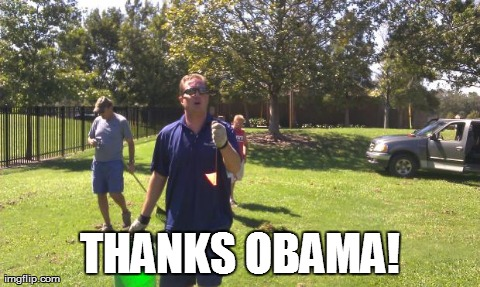 THANKS OBAMA! | image tagged in mikey | made w/ Imgflip meme maker